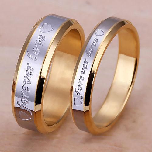 Women Men Forever Love Band Ring Engagement Engraving Couple Promise Advanced
