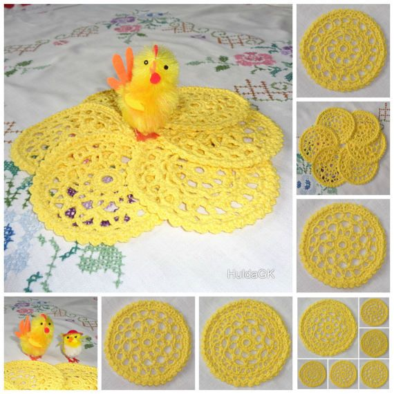 Yellow Easter Crochet Doly   Icelandic Production by HuldaGK