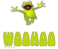 Frogs Frogs I Love Frogs Woohoo Yay Gifs Woohoo School Teacher Woo Hoo Clip Art Gif 347 Woohoo Cartoon Today Woo An Hello Gif Frog Quotes Frog Pictures