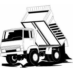 Vehicles For Dump Truck Dumping Drawing