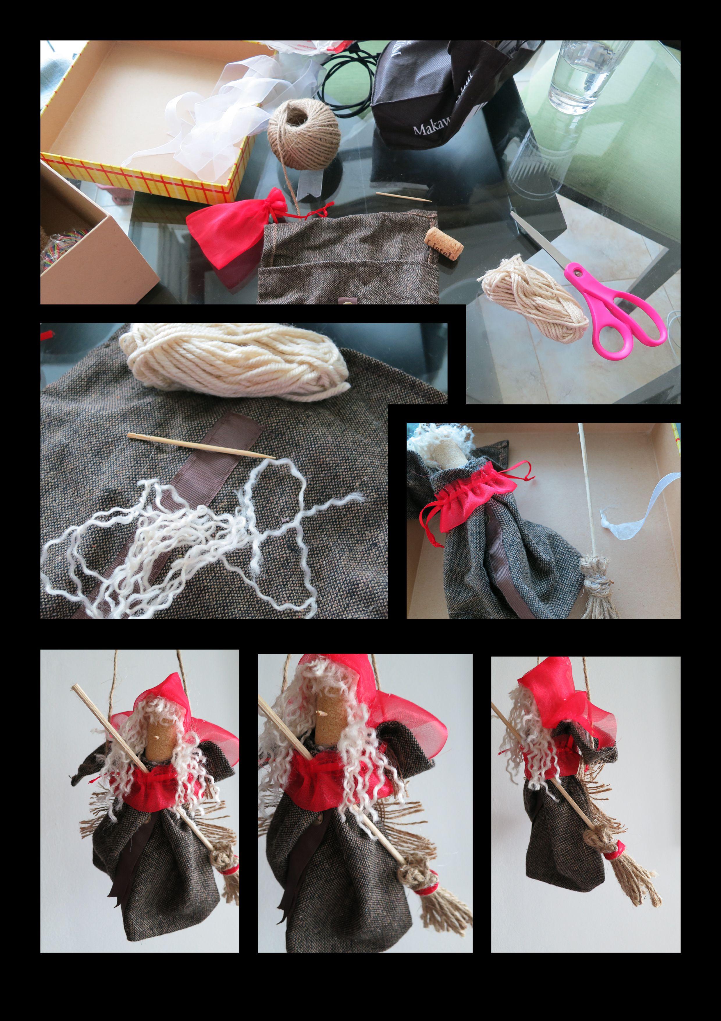 Make A Befana Using Fabric Scraps Dress Organza Bag