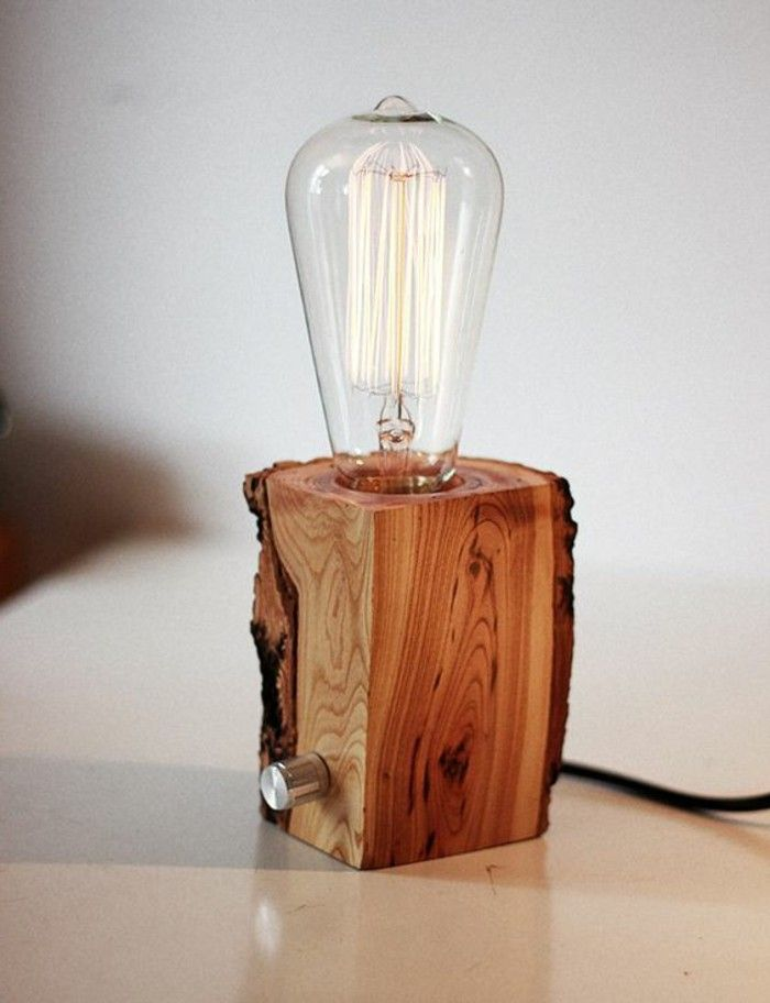DIY Lampe: 76 super coole Bastelideen dazu #stainedwood