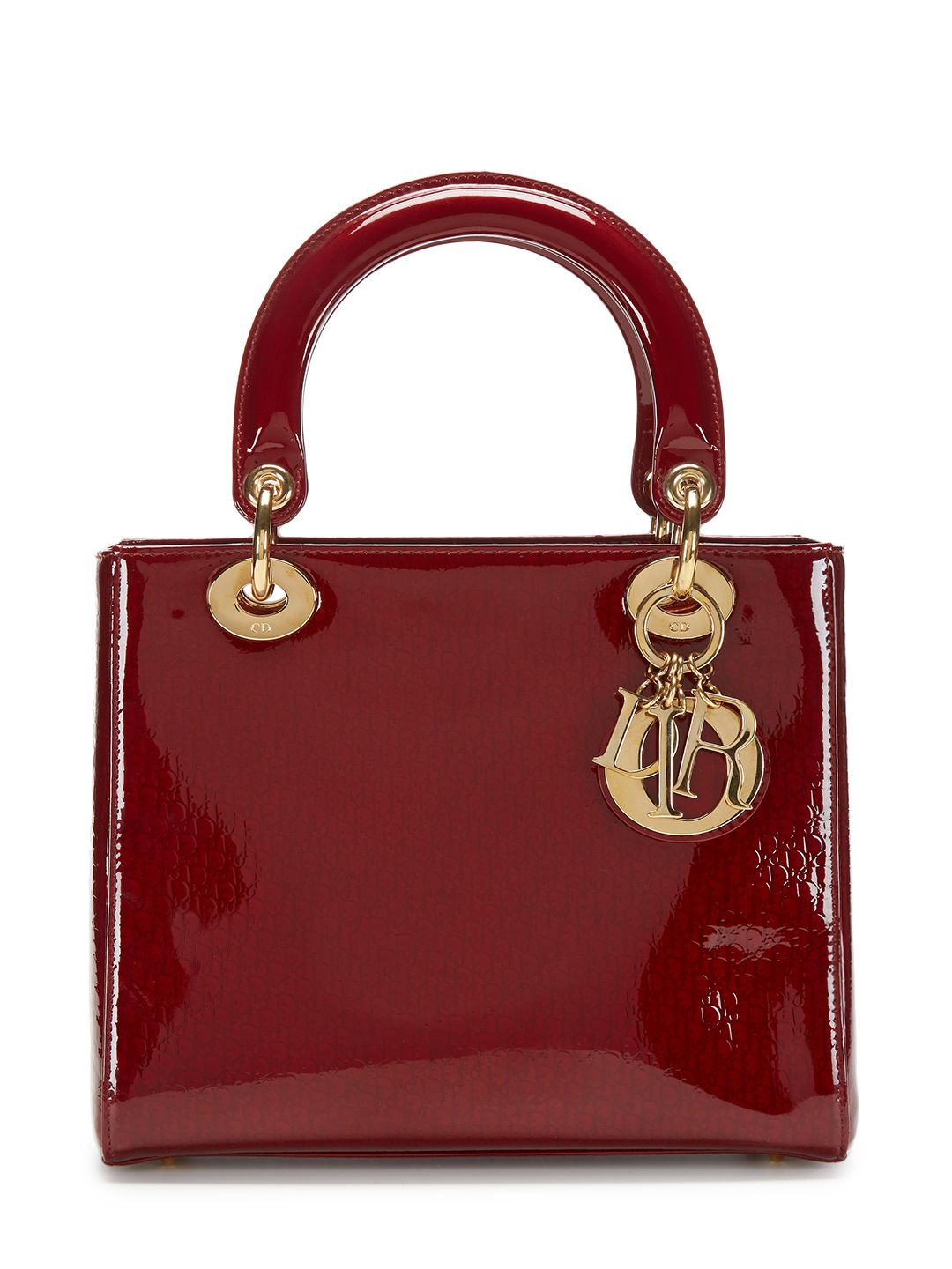 8da68db1a58a Christian Dior Burgundy Patent Leather Medium Lady Dior Bag by Dior at Gilt