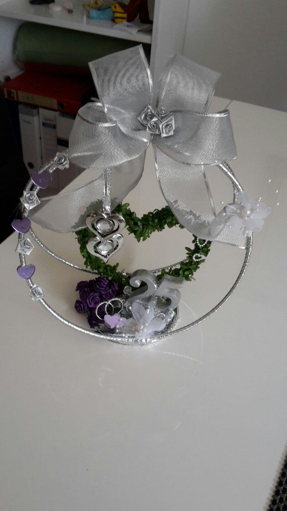 Geschenk zur silberhochzeit krone selbst gebastelt basteln pinterest - Silberhochzeit geschenke ideen ...
