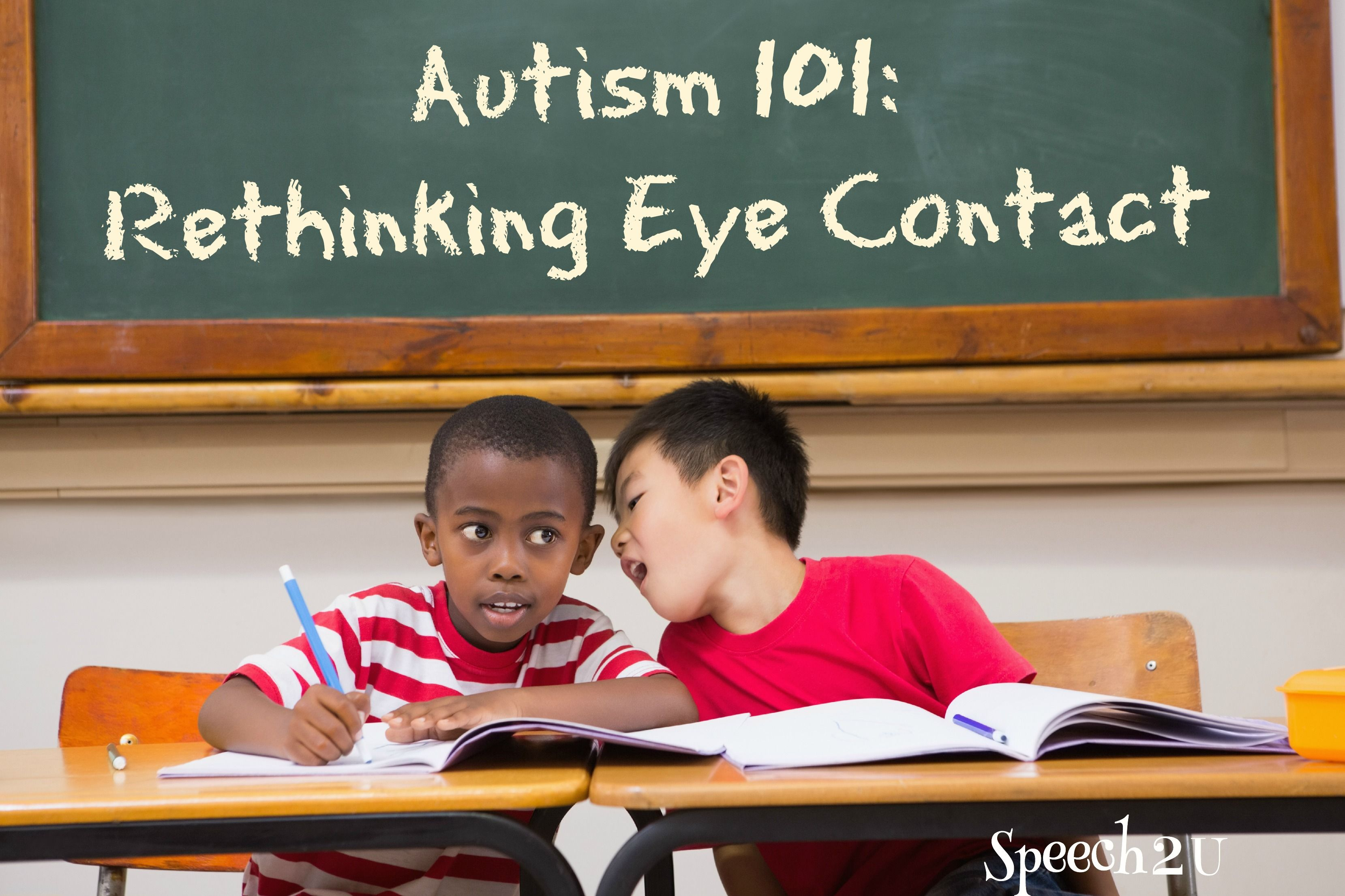 Autism Awareness Month Eye Contact Slps Tpt Speech