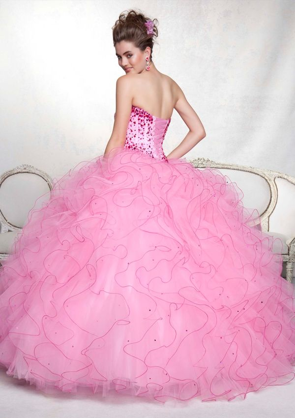 Quinceanera Gowns Style 88045: 88045 Two Tone Ruffle Edged Tulle and ...