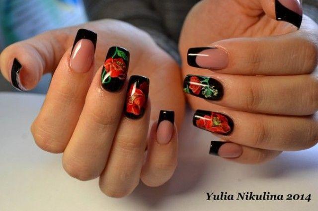 nagel muster bei yulia extrem black - Nagel Muster