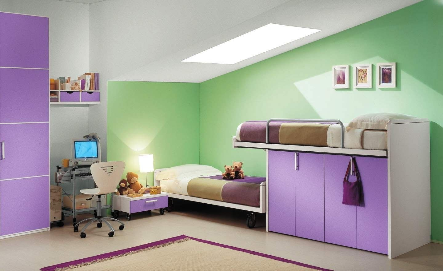 Purple Bedroom Ideas For Kids Part - 26: Kids Room Kids Bedroom Themes Purple Luxury Kids Room Designs With In Pink  And Purple Kids