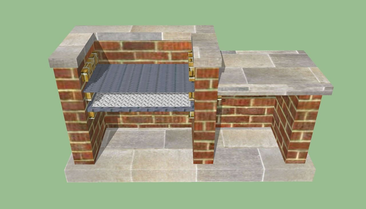 Brick barbeques how to build a barbeque pit for Outdoor barbecue grill designs