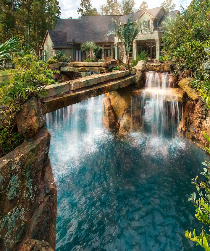 Luxury Swimming Pools With Waterfalls lagoon to home … | pinterest