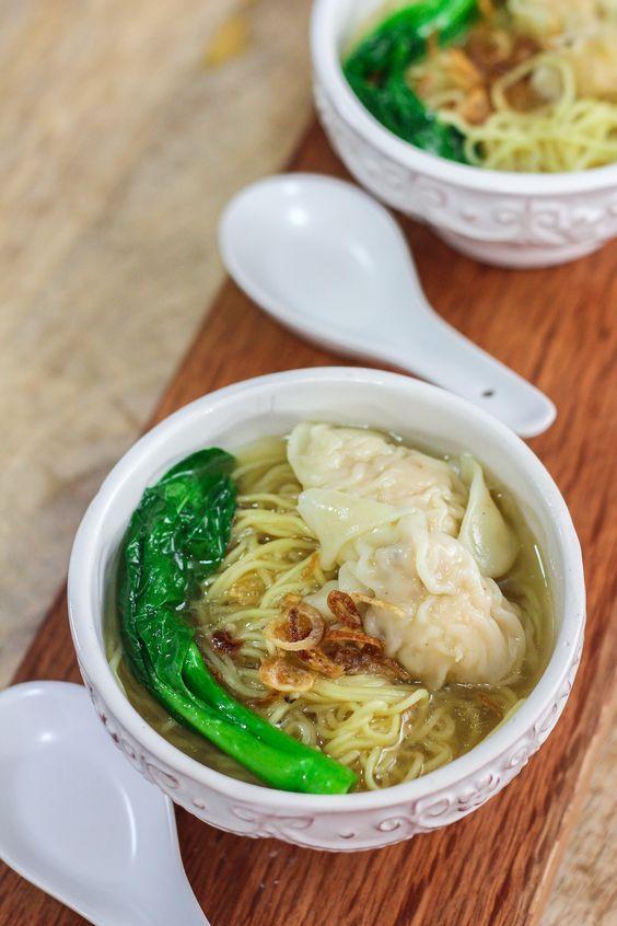 Wonton Noodle Soup Maya Kitchenette Resep Resep Masakan Resep Sup Masakan