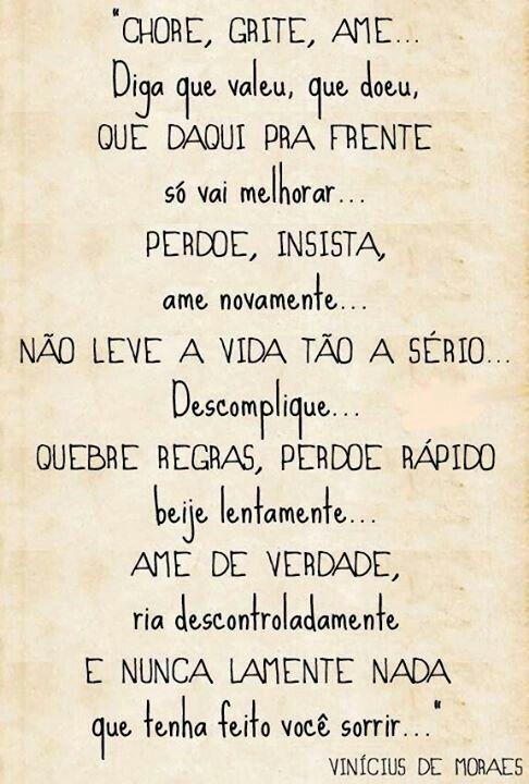 Vinicius De Morais Quotes Pinterest Frases Amor E Vida