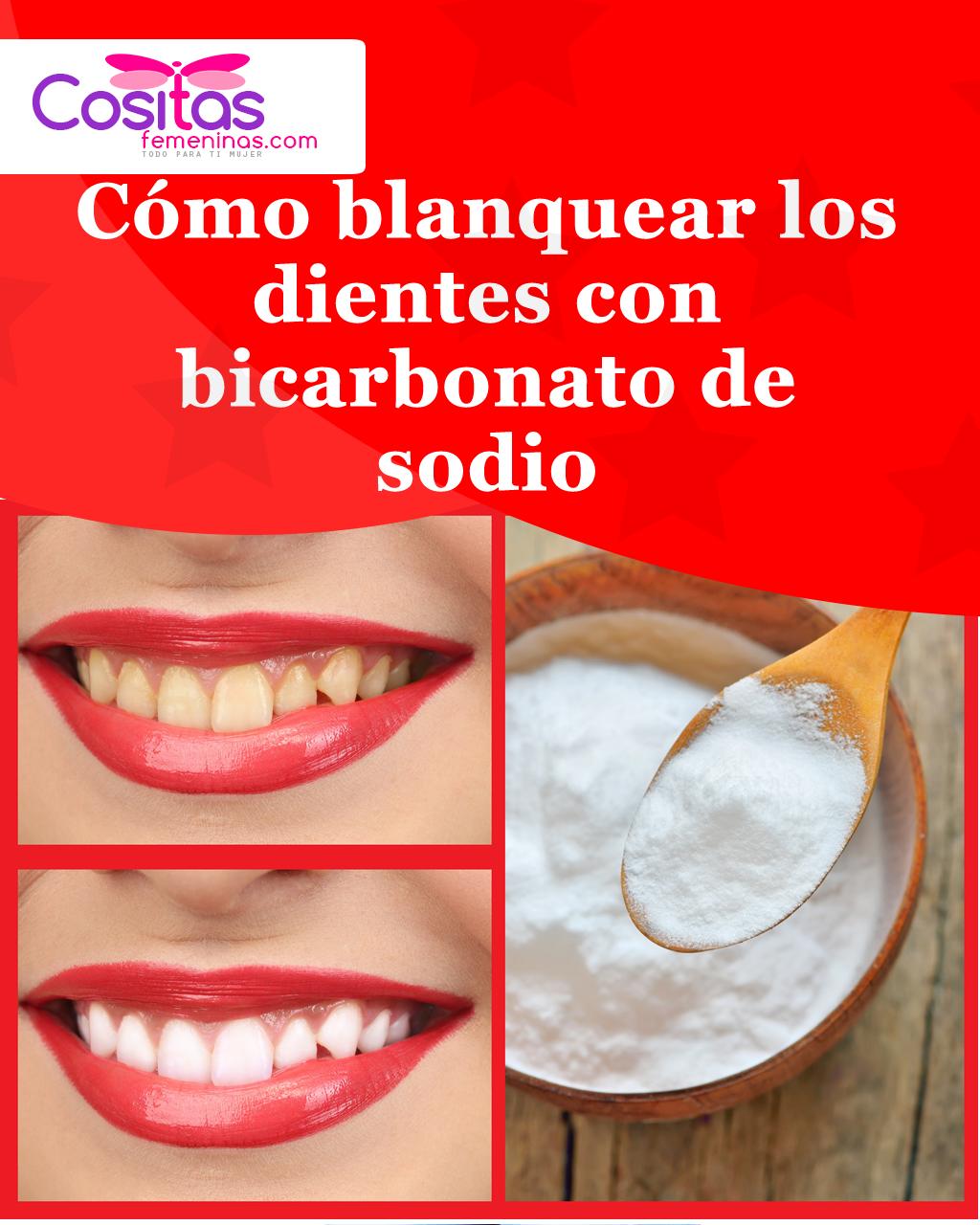 blanqueo de dientes con bicarbonato y limon