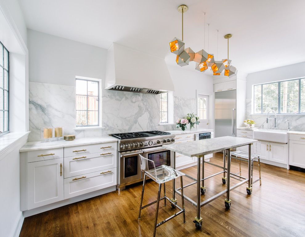 transitional lshaped enclosed kitchen  marble kitchen