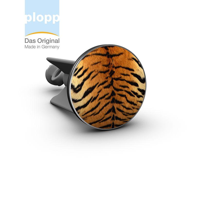 plopp Waschbeckenstöpsel Tiger  Waschbeckenstöpsel mit #Animal Print #bad #Geschenkidee #Badezimmer #bathroom  www.plopp.co