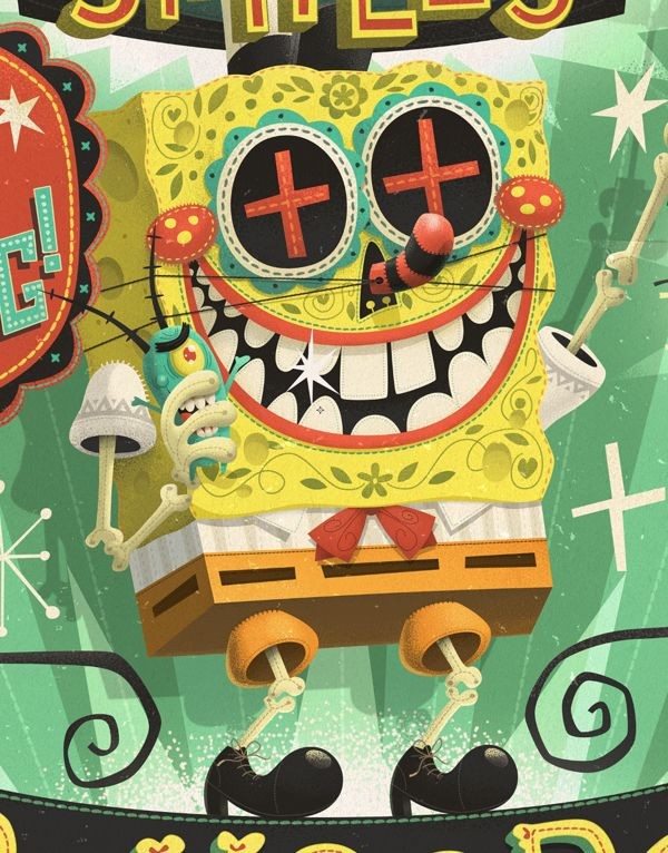 Picante Spongebob by Steve Simpson, via Behance