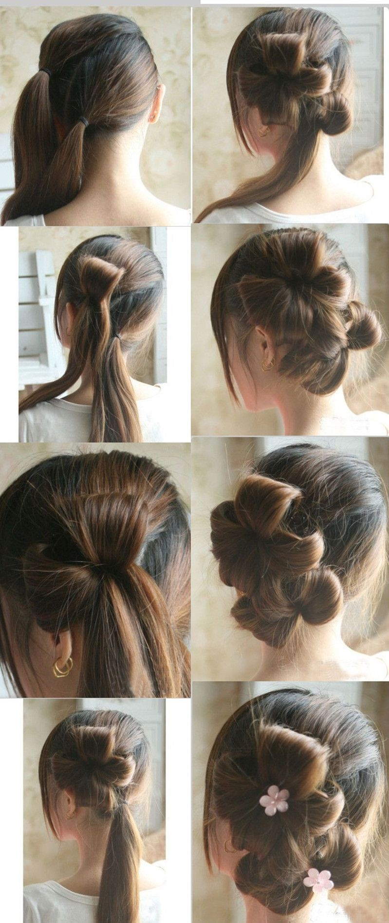 Try it out double floral hair pictorial amy pinterest