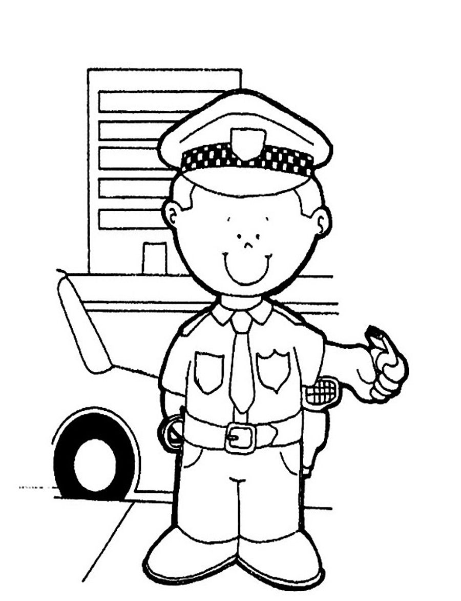 policeman coloring page # 5
