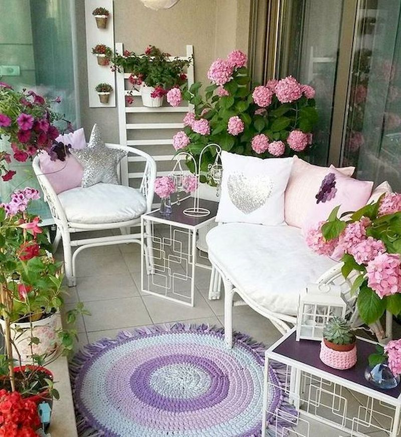 59 Creative Small Balcony Decor Ideas for Best Spring #smallbalconyfurniture