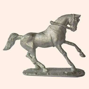W 03a Horse 30mm Willie  30mm Willie War game figures  All the figures are made from white metal and are available as unpainted kit, castings, they can also be supplied fully hand painted in matt.
