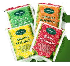 Afrikka Rooibos pussitee Neljän maun kofeiiniton Rooibos-lajitelma.