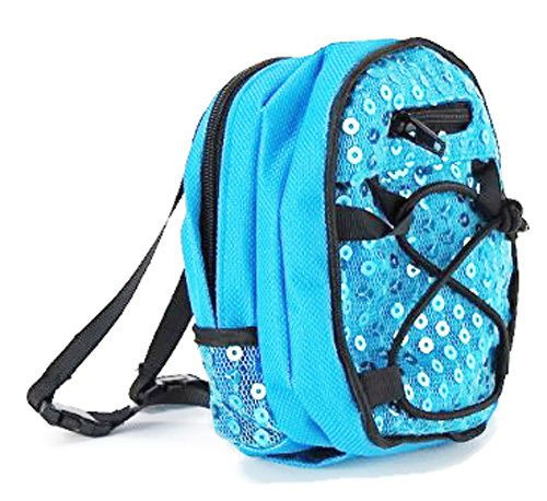 """Teal Sequin Backpack made for 18/"""" American Girl Doll Back-To-School Accessories"""