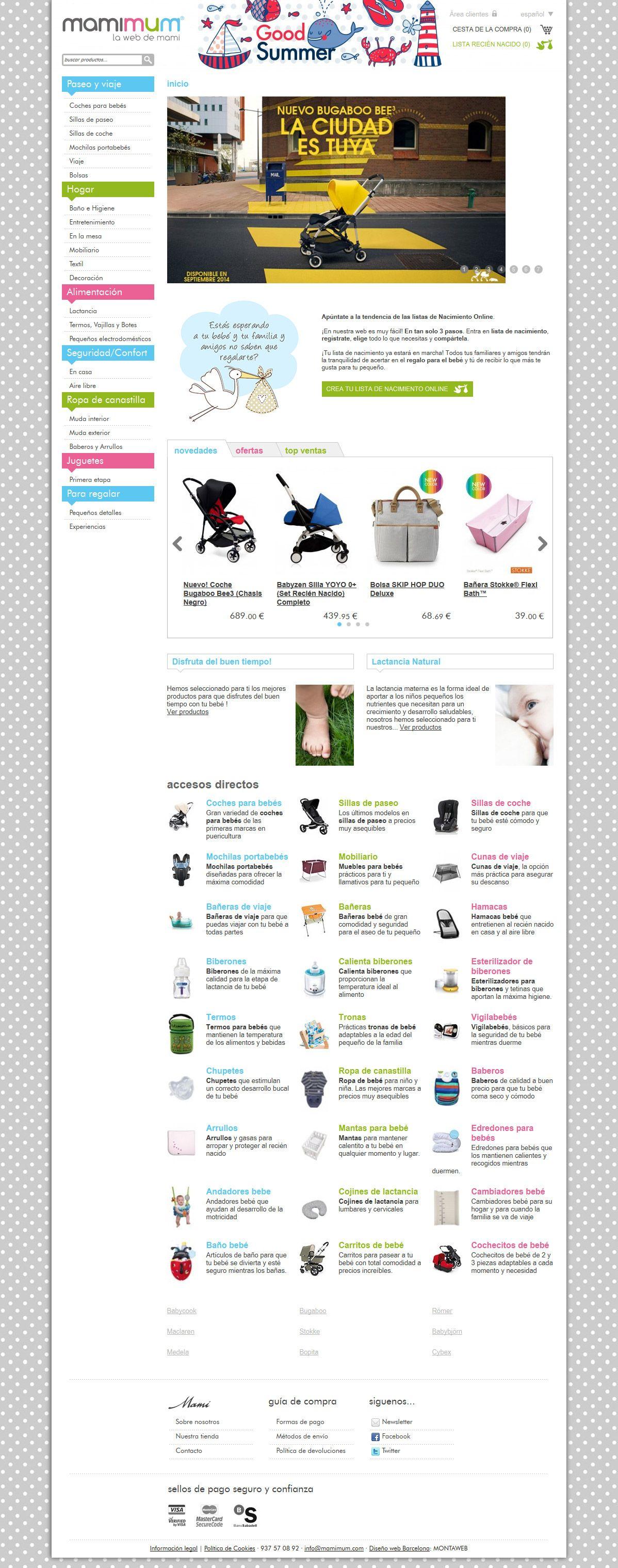Mamimum.com es una #tienda online para #bebés de #ropa, mobiliario y accesorios de las mejores marcas.  La #web #shop ofrece un amplio catálogo de productos y categorías totalmente autoadministrables por el cliente. Es rápida e intuitiva, con un #diseño atractivo y alegre.