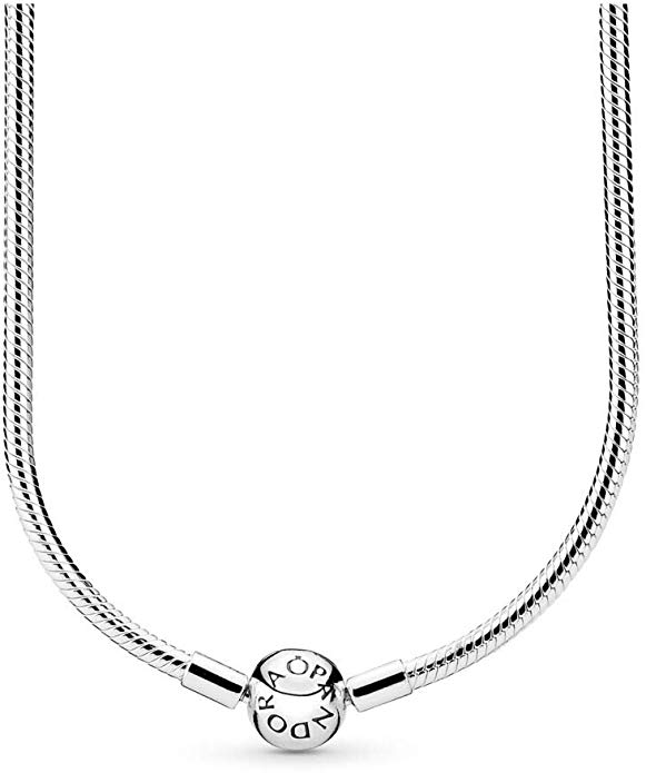 Amazon.com: PANDORA - Moments Snake Chain Charm Necklace in ...