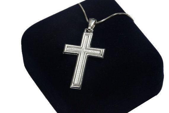 beauty silver cross pendant. 925 silver sterling by KeyStoneJewels