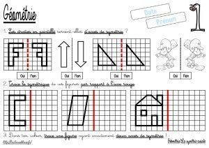 La symétrie axiale/Tracer le symétrique (CM-Géométrie-Les ...