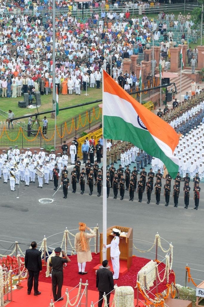 History Here Is A Picture Of A Service That Went On During India S Independence Day Independence Day Is A National Flag India India Flag Republic Day India