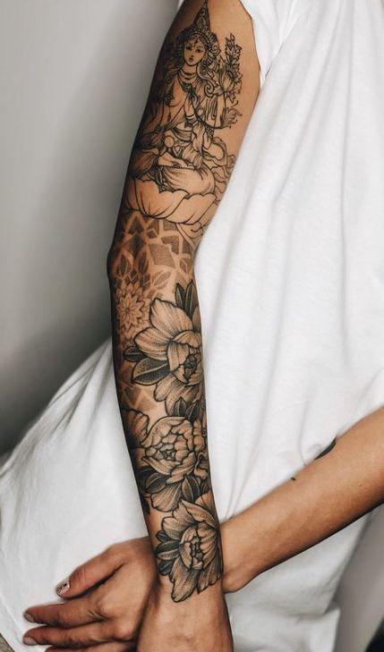 Photo of 63 Ideen Blumen Tattoo Ärmel Mädchen tat für 2019