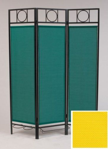 """Comtemporary Privacy Screen Black-Yellow by Idm Worldwide. $225.00. Size: 71.5""""h x 55""""w x 12""""d. Color: Yellow. This patio privacy screen assembles in less the 20 minutes and no tools are required.. This privacy screen is the first all weather folding screen designed specifically for outdoor use.. The frame has a powder-coated steel construction and the fabric is mildew, UV, and fade resistant.. Contemporary Privacy Screen Elegant Privacy This indoor/outdoor screen has contem..."""