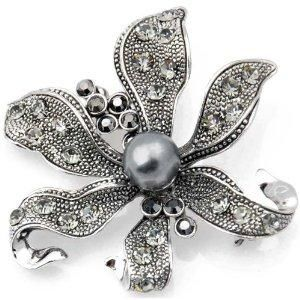 lvlv-com:   Vintage Style Black Flower Pearl Pin Brooch and Pendant: Fantasyard: Jewelry - See more at: http://lvlv.com/content/vintage-styl...