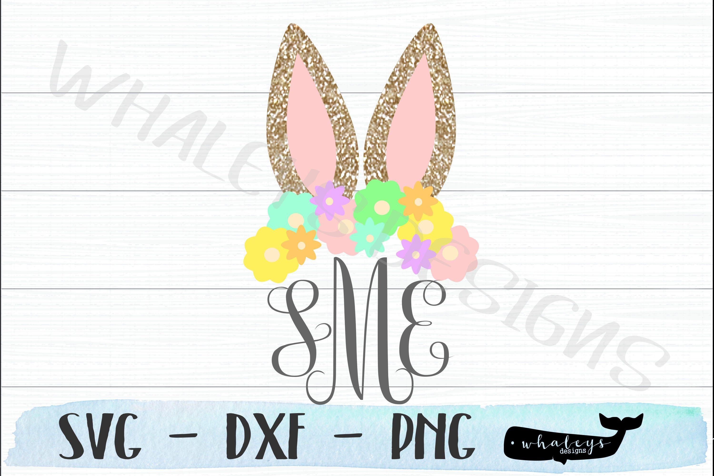 Bunny Ear Monogram Svg Rabbit Personalized Dxf Initals