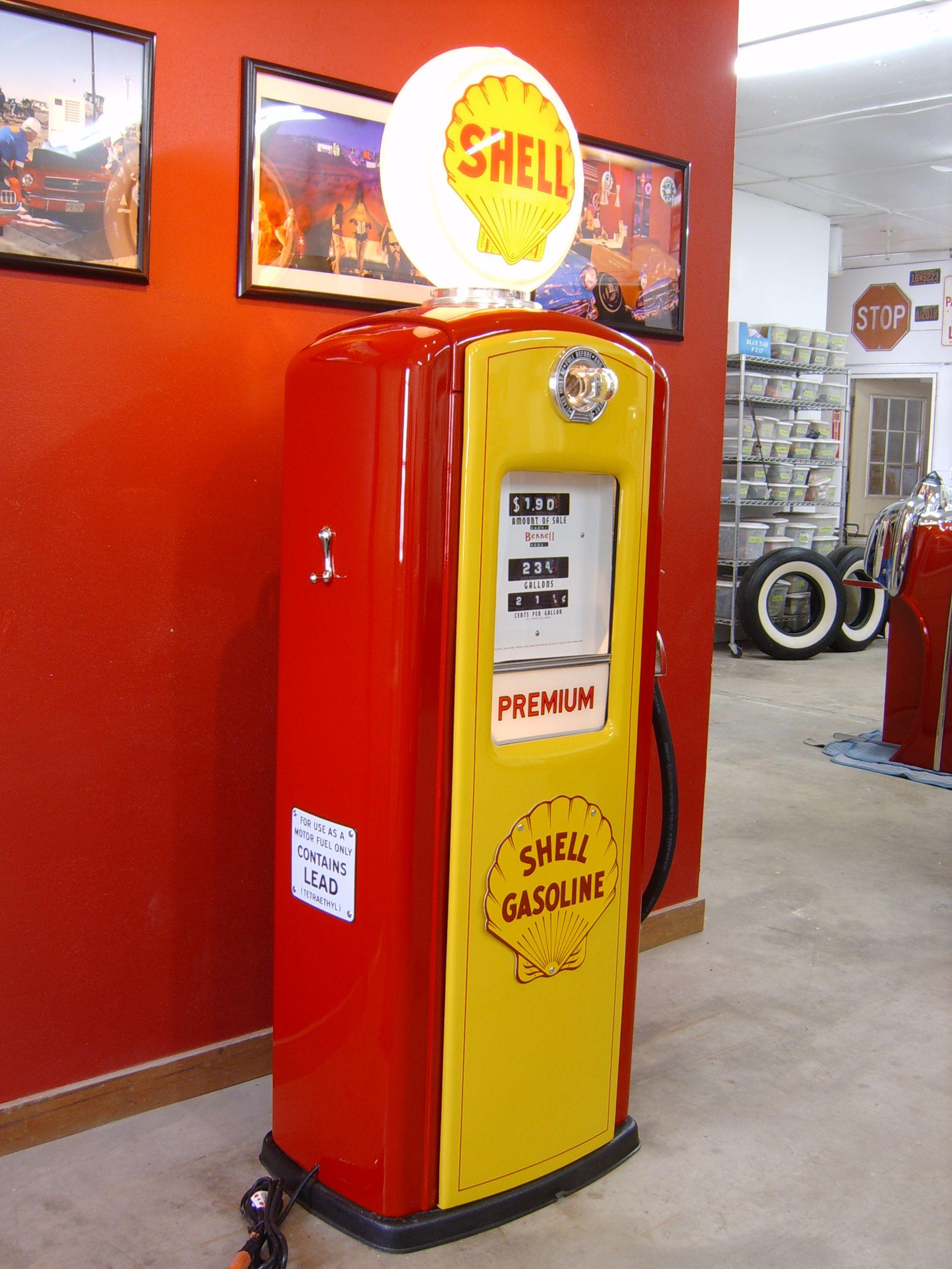 50's Shell Gas Pump | Benzinepompen | Pinterest | Pump ...
