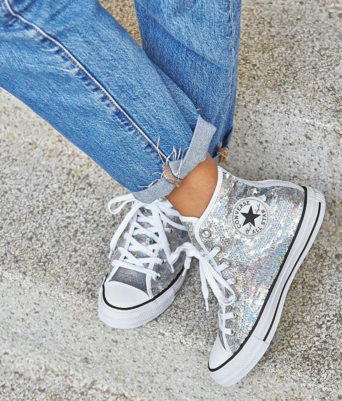 scarpe converse paiettes