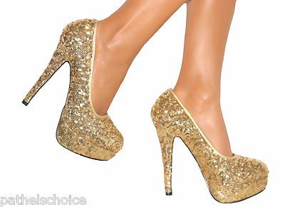 Image gallery for : gold sparkly heels | Heels | Pinterest | Fancy ...
