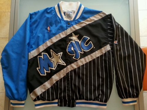1222a1a5ad0 Warm-Up-Jacket-NBA-Champion-Jersey-L-pinstripe-ORLANDO-MAGIC-Basketball -Vintage