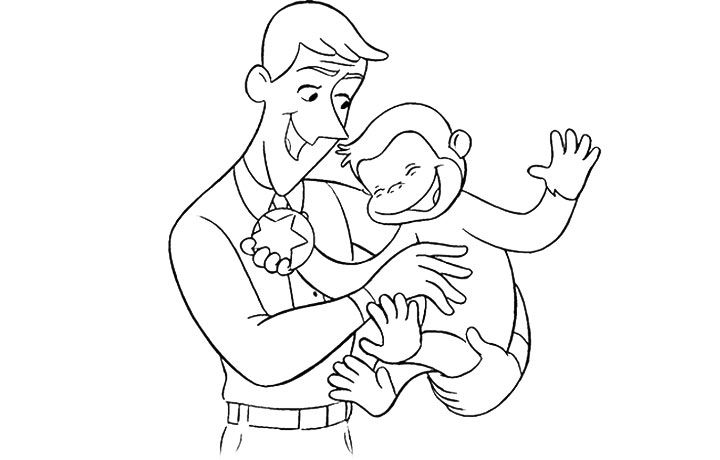 curious george fire coloring pages - photo#16