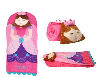Princess custom embroidered nap mat cover and blanket