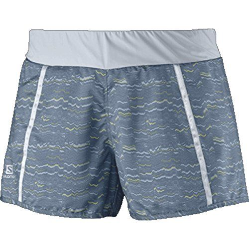 06005c1b50f5 Salomon Park 2in1 Short Womens Bleu GrisStone BlueGecko Green M    Check  out the image by visiting the link.