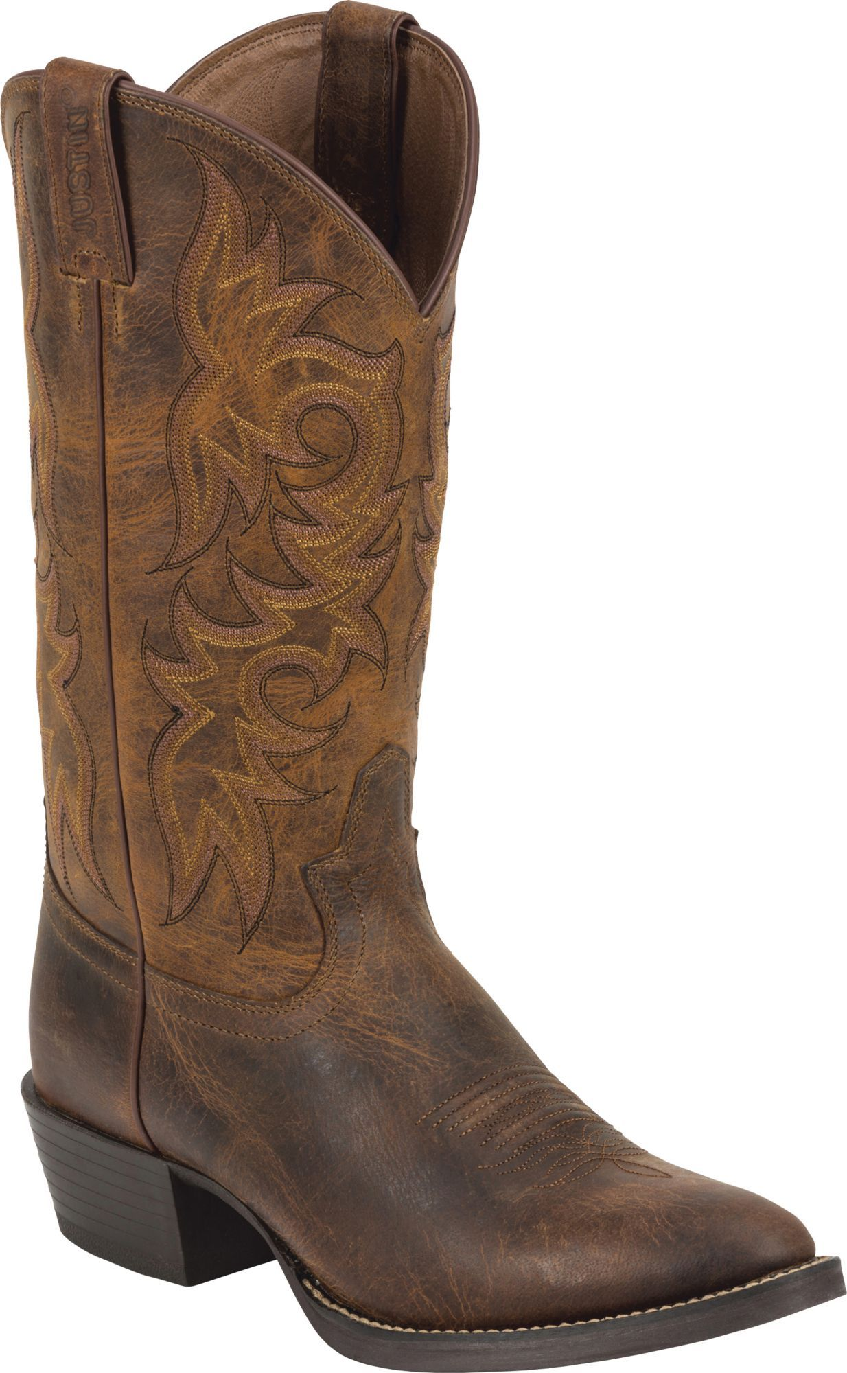 Rugged Cowhide Western Boots