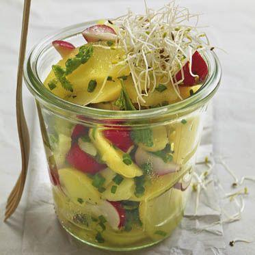 Kartoffel-Radieschen-Salat mit Sprossen