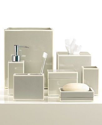 Kassatex Bath Accessories Gray Soho Collection Bathroom Accessories Bed Bath Macy 39 S