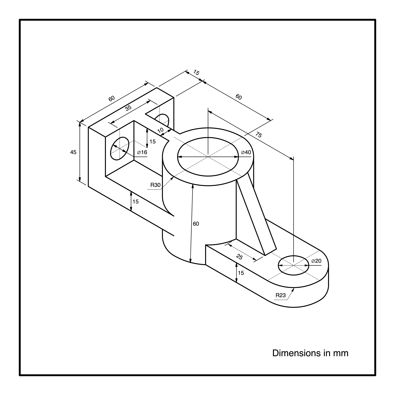Esercizio N 48 Dibujo Tecnico Ejercicios Tecnicas De Dibujo Dibujo Tecnico Industrial