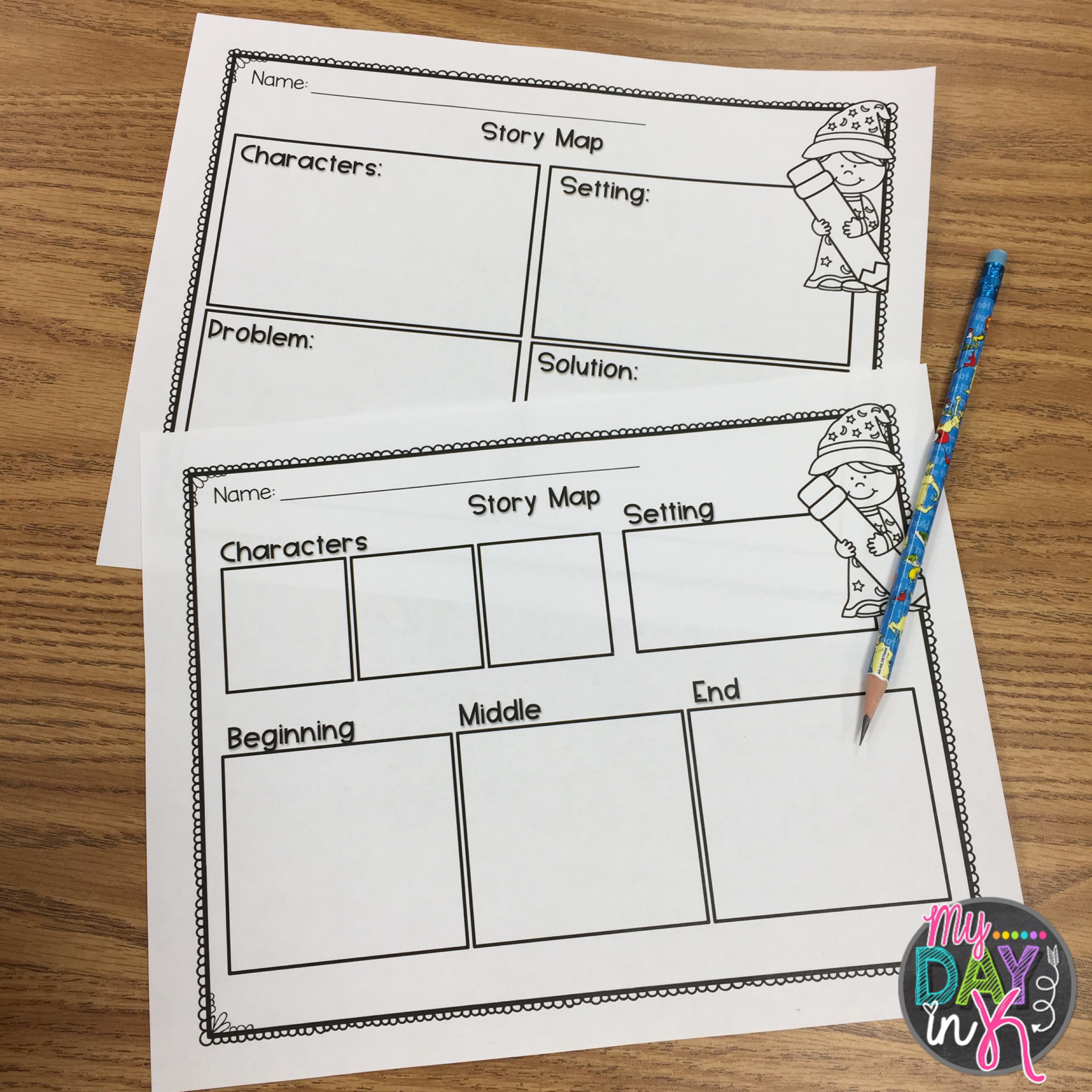Freebie Story Maps To Talk And Organize Story Elements Story Elements Kindergarten Story Map Kindergarten Freebies [ 3072 x 3072 Pixel ]