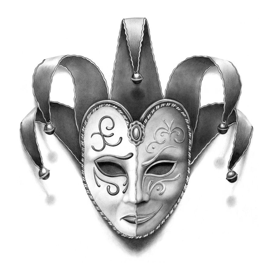 Happy and sad face masks happy and sad face tattoos - Theatre Mask Tattoo Design Free Pictures And Ideas On Images