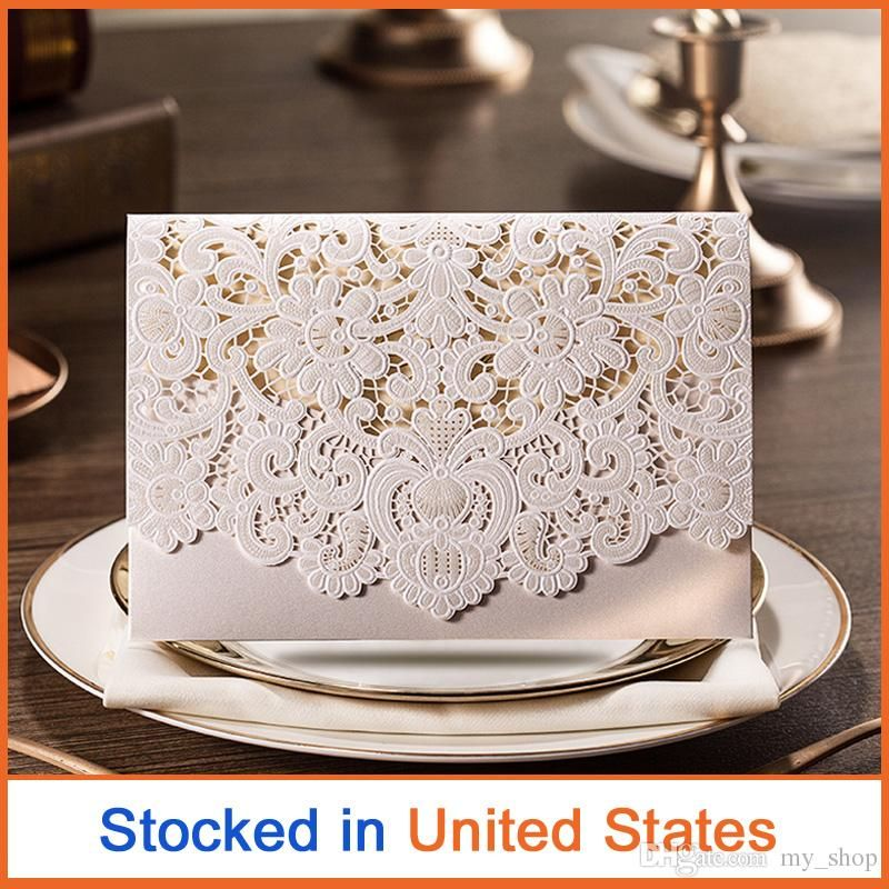 Newest Laser Cards Cut Arabic wedding Invitation Cards with Embossed ...