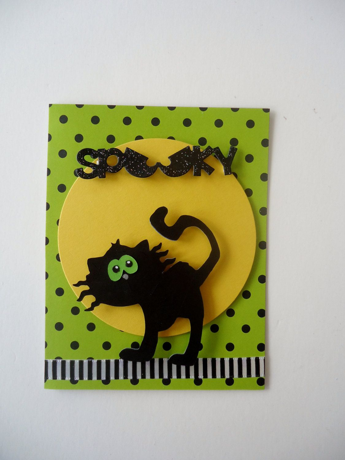 Happy halloween scary cat card handmade greeting card spooky happy halloween scary cat card handmade greeting card spooky cat 3d halloween card great for kids or adults kristyandbryce Images